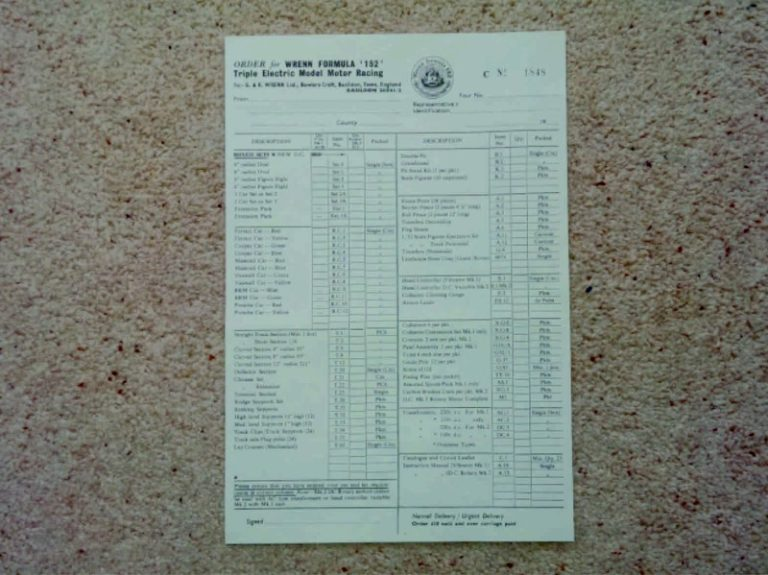 Dealer price list